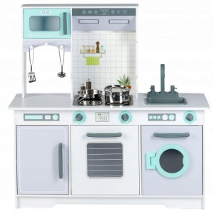 Drevená XXL kuchynka s práčkou + doplnky Ecotoys
