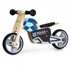 Kvaliné drevené odrážadlo pre chlapcov POLÍCIA
