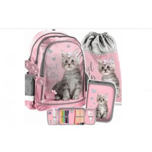 Školská taška pre dievčatá v trojsade SKLADOM