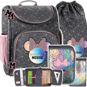 Trojdielná dievčenská školská taška Mickie Mouse