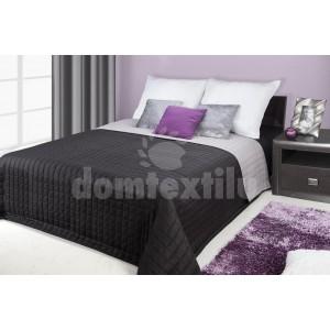 Čierne prehozy na postele s prešívaným vzorom