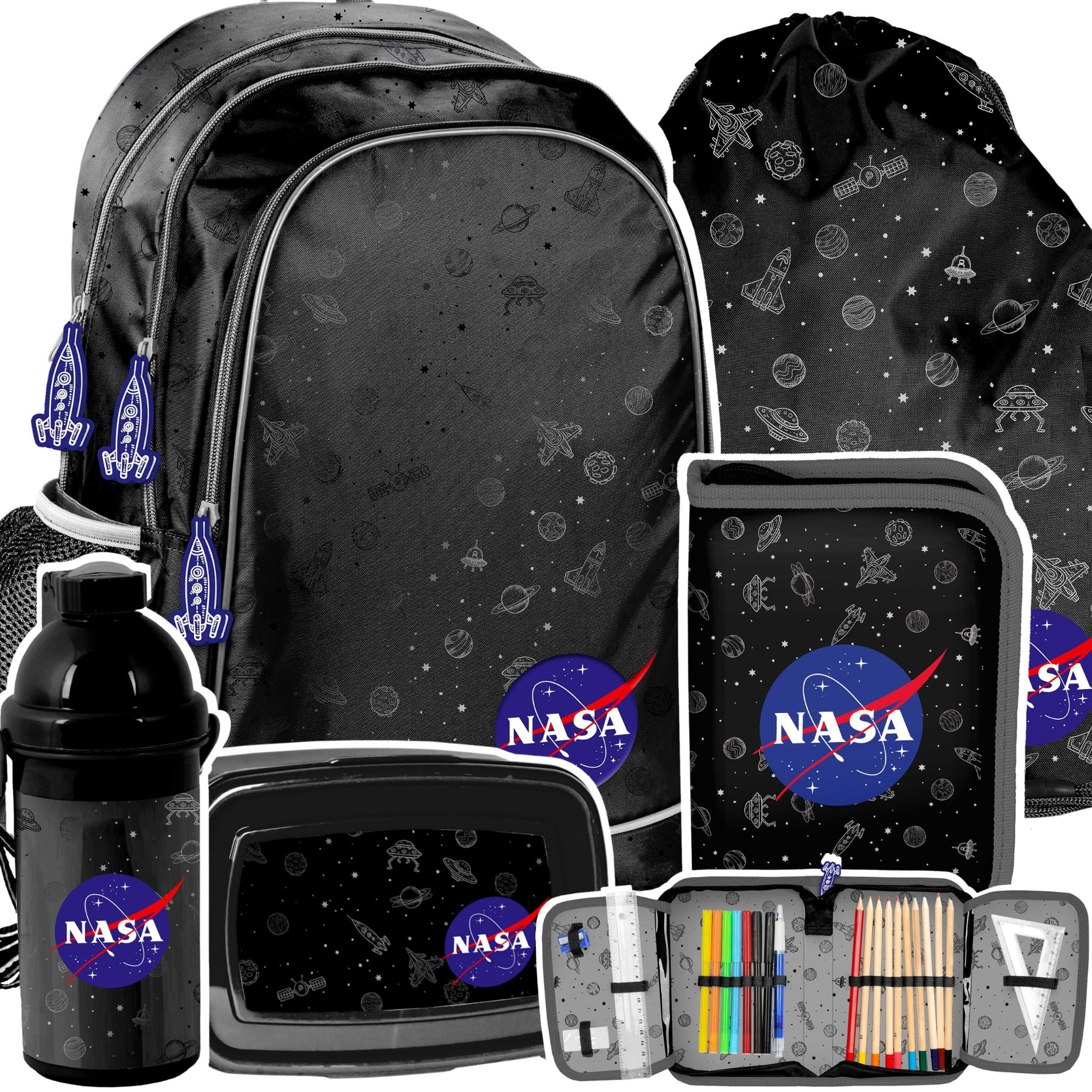 DomTextilu Školský 5-dielny batoh NASA s príslušenstvom 43995