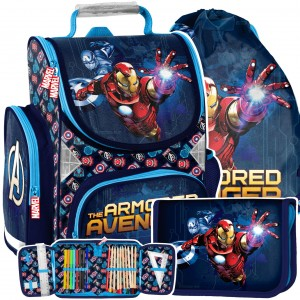 Kvalitná 3-dielná školská taška s motívom AVANGERS