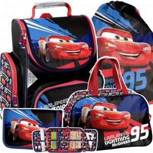 Kvalitná 4-časťová školská taška pre chlapcov CARS
