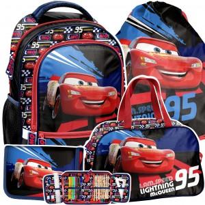 Moderný 4-časťový školský batoh CARS pre chlapcov