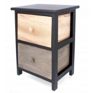 Kvalitná drevená komoda v prírodných odtieňoch s dvoma zásuvkami