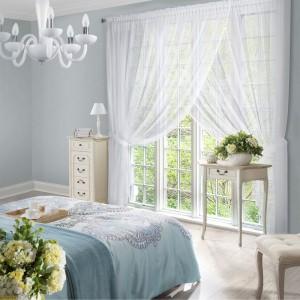 Elegantná biela záclona 400 x 250 cm