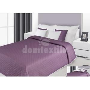 Prehoz na posteľ tmavofialovej farby s prešívaným vzorom
