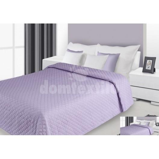 Prehoz na posteľ svetlofialovej farby s prešívaným vzorom