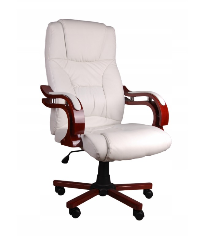 DomTextilu Biele kancelárske kreslo s masážnou funkciou 44315