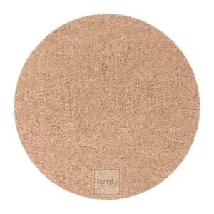 Kvalitný okrúhly koberec v univerzálnej béžovej farbe