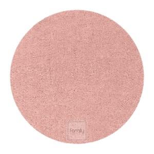 Nádherný pudrovo ružový okrúhly koberec do každej izby