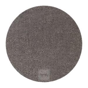 Perfektný tmavosivý okrúhly koberec