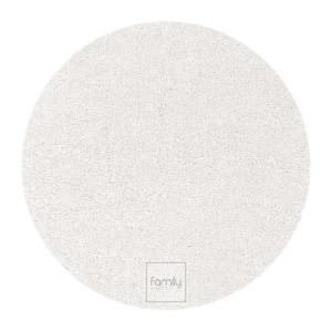Štýlový okrúhly koberec do každej izby v bielej farbe