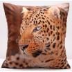 Hnedá obliečka na vankúše s motívom geparda