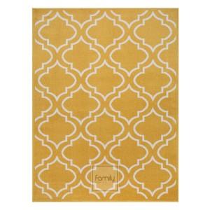 Originálny žltý koberec v škandinávskom štýle