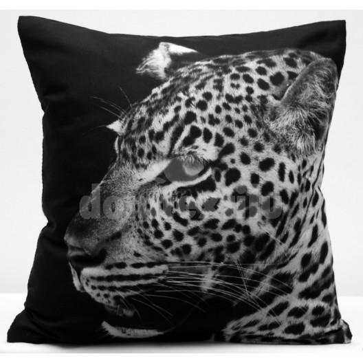 Čierne obliečky na vankúše s potlačou geparda
