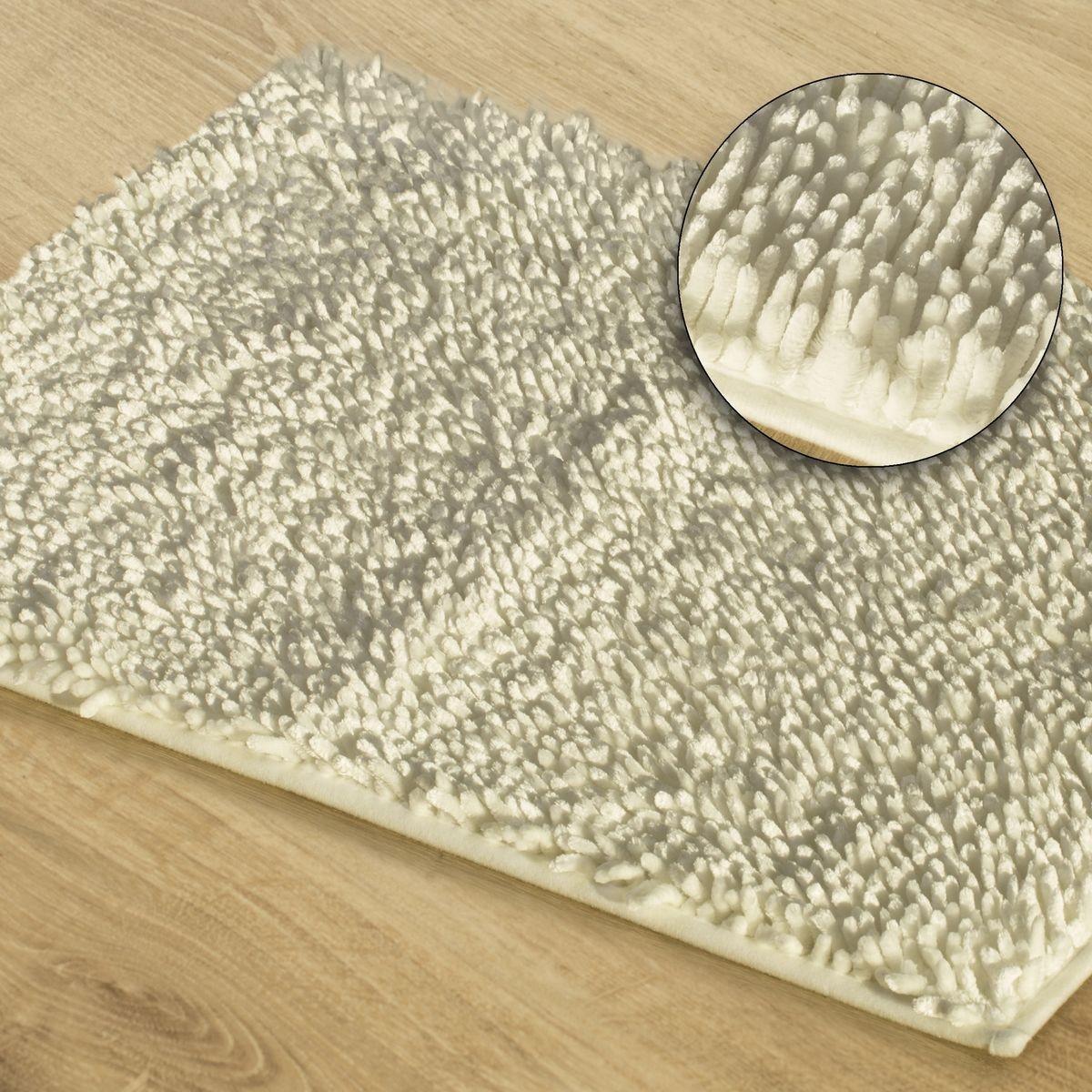 DomTextilu Kúpeľňový koberec v krémovej farbe Šírka: 50 cm | Dĺžka: 70 cm 44463-208036