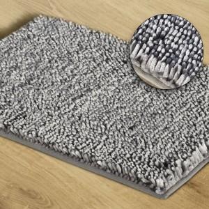 Shaggy sivý koberec do kúpelne 60 x 90 cm