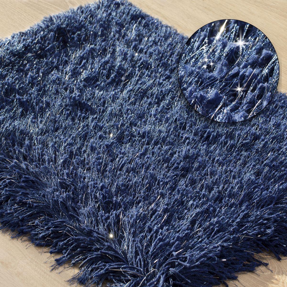 DomTextilu Koberec do kúpelne vo farbe námornícka modrá Šírka: 50 cm   Dĺžka: 70 cm 44470-208048