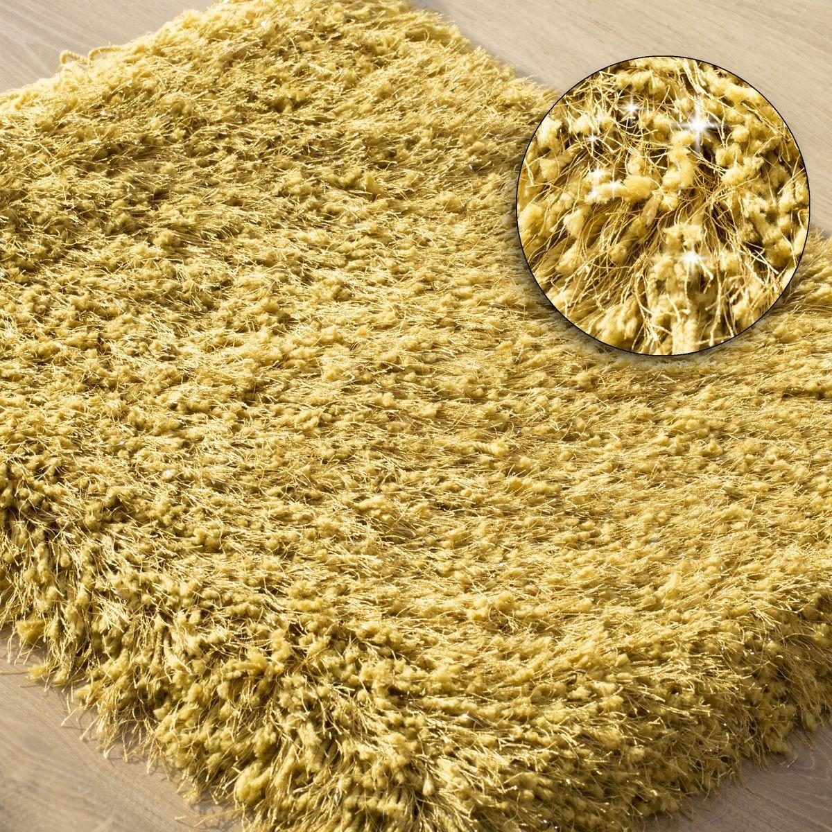 DomTextilu Žltý huňatý koberec do kúpelne Šírka: 50 cm   Dĺžka: 70 cm 44472-208053