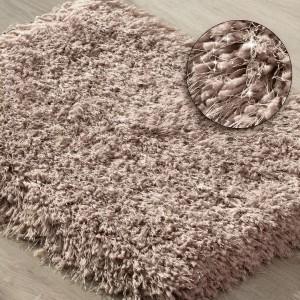 Pohodlný ružový shaggy koberec