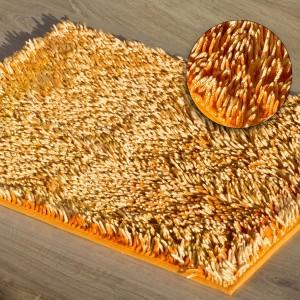Oranžový huňatý koberec do kúpelne 75 x 150 cm