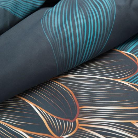 Luxusné tyrkysové posteľné obliečky zo španielskeho bavlneného saténu