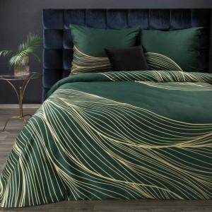 Kvalitné zelené posteľné obliečky bavlnený satén z kolekcie PREMIUM