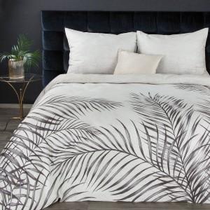 Luxusné sivo strieborné posteľné obliečky bavlnený satén