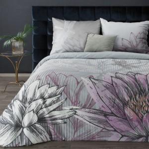 Moderné sivo biele posteľné obliečky z kvalitnéhej španielskej bavlny