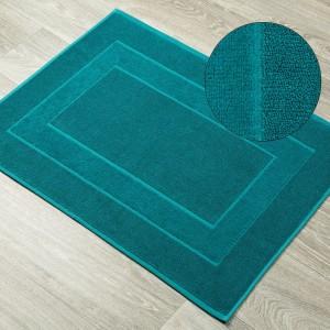 Tyrkysový kúpeľňový koberec z bavlny