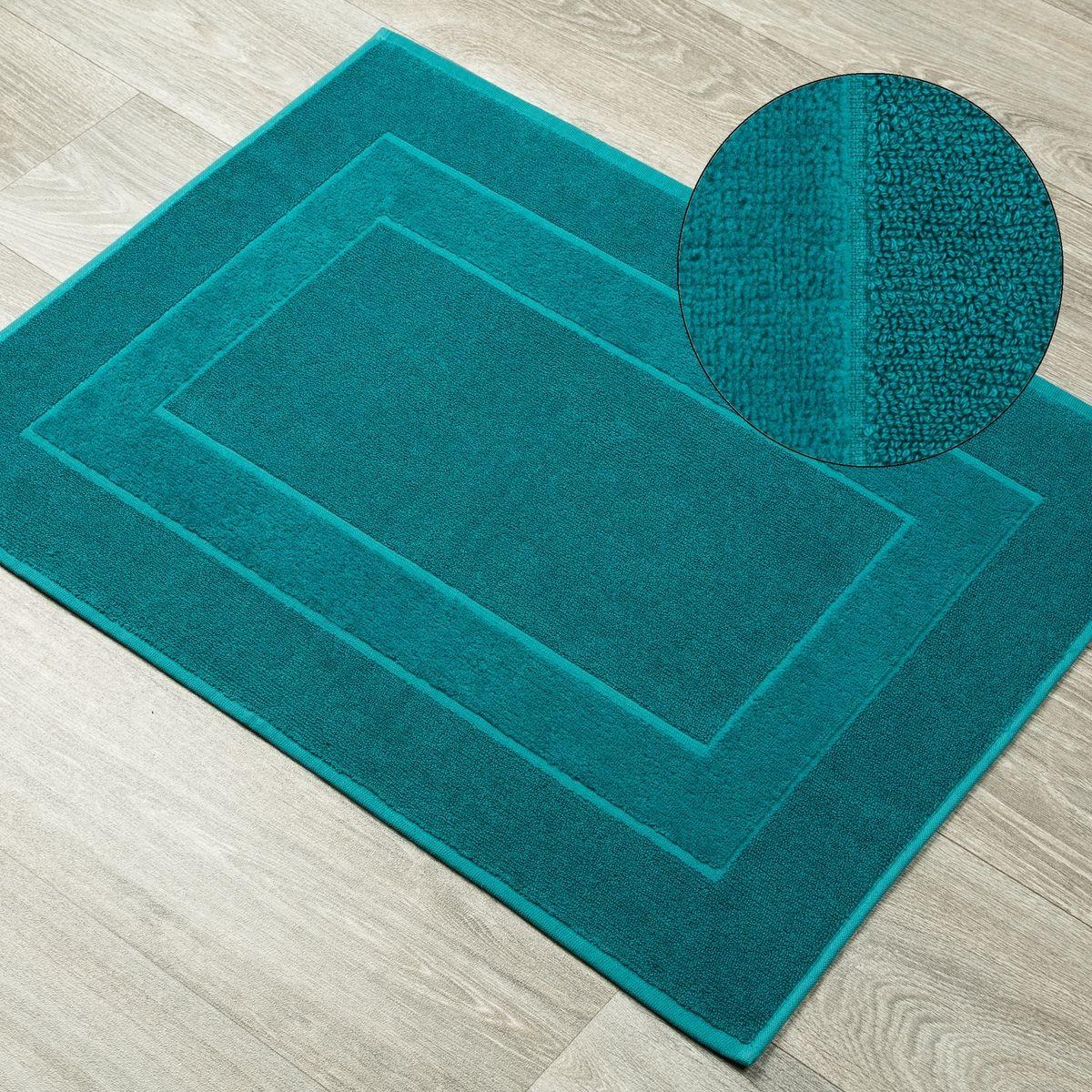 DomTextilu Tyrkysový kúpeľňový koberec z bavlny Šírka: 50 cm | Dĺžka: 70 cm 44533-208242