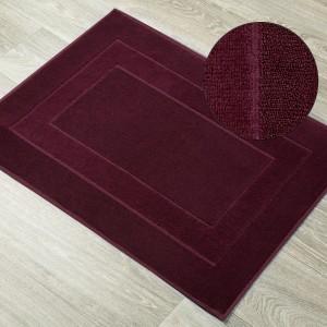 Kúpeľňový koberček z froté bavlny bordový