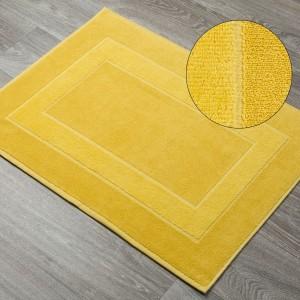 Žltá kúpeľňová predložka z froté bavlny
