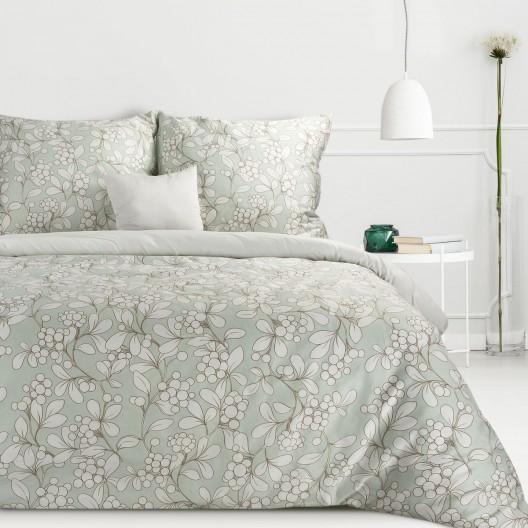 Bavlnený satén posteľné obliečky zeleno sivé