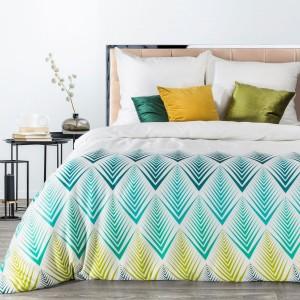 Moderné biele bavlnené posteľné obliečky s farebným škandinávskym vzorom