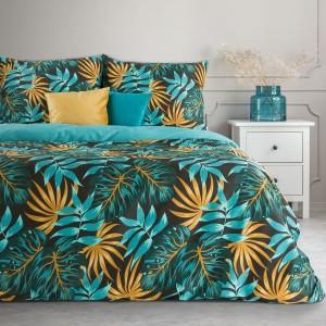Čierne bavlnené posteľné obliečky s kvalitnou farebnou potlačou