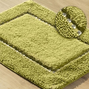 Luxusná bavlnená kúpeľňová predložka v olivovej farbe