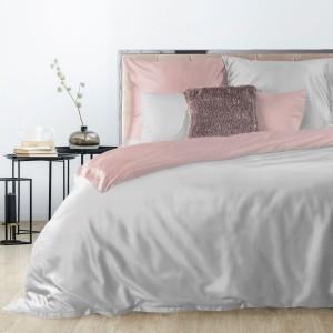 Kvalitné posteľné obliečky bavlnený satén púdrovo sivej farby