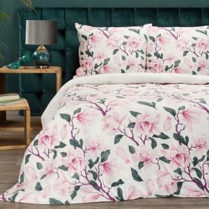 Romantické posteľné obliečky bavlnený satén s motívom ruží