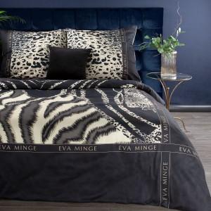 Čierne posteľné obliečky bavlnený satén od renomovanej návrhárky EVA MINGE