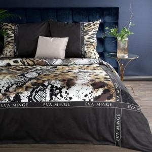Brilantné čierne posteľné obliečky bavlnený satén