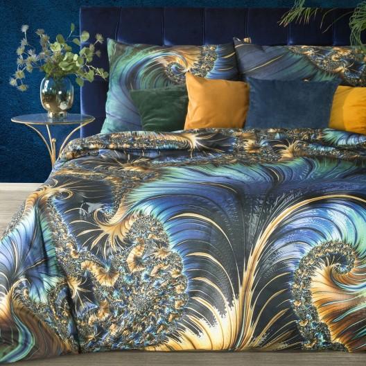 Hodvábne posteľné obliečky bavlnený satén s výrazným abstraktným vzorom
