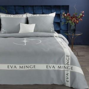 Kvalitné bielo sivé posteľné obliečky s potlačou EVA MINGE
