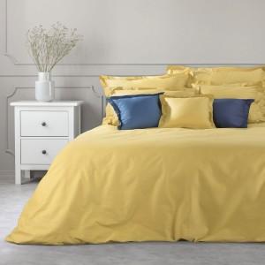Kvalitné žlté bavlnené obliečky na perinu