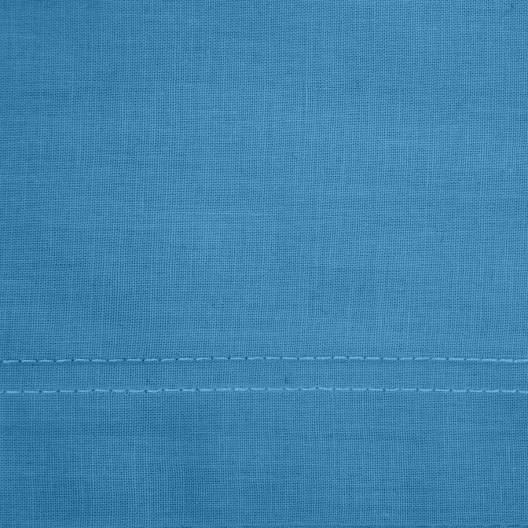 Tmavo modrá bavlnená obliečka na paplón so saténovým leskom