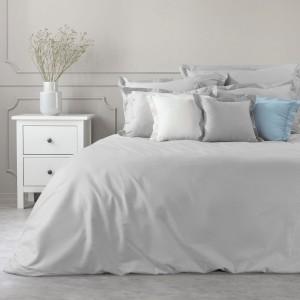 Svetlo sivé bavlnené posteľné obliečky na perinu