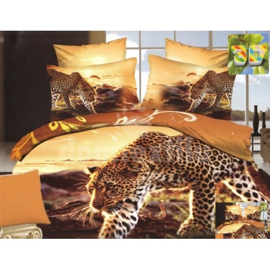 Hnedé flanelové obliečky s motívom tigra