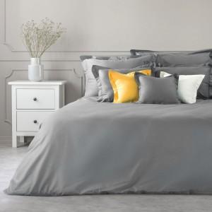 Kvalitná tmavo sivá bavlnené posteľná obliečka na prikrývku NOVA COLOR